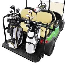 universal golf bag holder bracket attachment cart rear seat ezgo