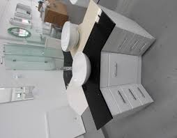 creative corner bathroom vanity in small area mapo house and