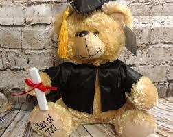 personalized graduation teddy graduation gift etsy