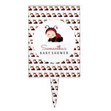red baby shower cake toppers zazzle