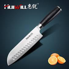 marque de couteaux de cuisine huiwill marque 7 japonais aus 8 acier inoxydable santoku couteau
