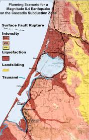 Earthquake Map Oregon by Crew Cascadia Subduction Earthquake Developing Earthquake Scenarios