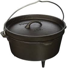 Cast Iron Cooking Amazon Com Texsport Cast Iron Dutch Oven With Legs Lid Dual