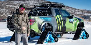 Ford Raptor Truck Lifted - ken block likes to snowboard with a ford raptor trax truck