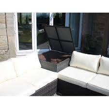sofa bed with storage box outdoor garden furniture corner sofa with storage box in brown