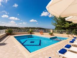 How Big Is 40 Square Meters Antigoni Villa Luxury Villa In Village With An Amazing Gorge View