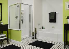 small bathroom design ideas color schemes pastel green wall long