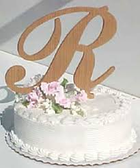 cake topper wooden letters