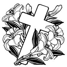 easter cross coloring page coloring sun