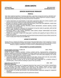 Warehouse Manager Resume Examples by 11 Warehouse Cv Example Park Attendant