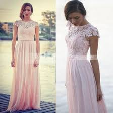 long bridesmaid dresses sleeves champagne color online wholesale