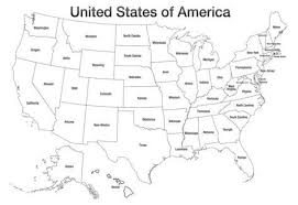 map of usa united states of america map usa coloring poster print posters
