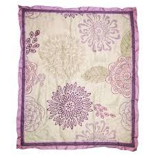 Dahlia Nursery Bedding Set The Peanut Shell Crib Bedding Set Purple And Lavender Floral