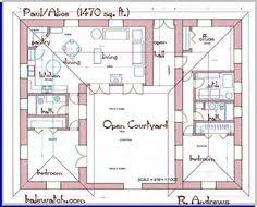 House Plans With A Courtyard 2 Bedroom U Shaped Floor Plans With Courtyard Clutterus A