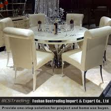 modern round nature white marble dining table buy marble dining
