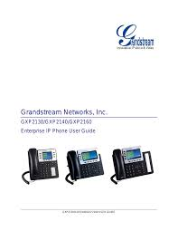 grandstream gxp2130 user guide user manual 51 pages also for