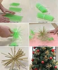 creative ideas diy plastic straw ornaments