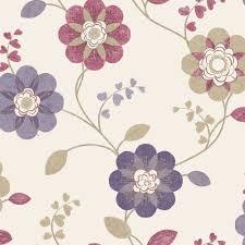 B Q Living Room Design B U0026q Anastasia Plum U0026 Raspberry Floral Wallpaper Anastasia