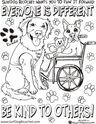 coloring pages for respect surf dog ricochet u0027s anti bullying