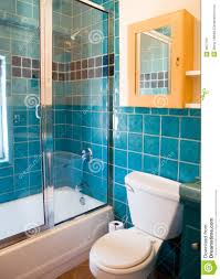 turquoise tile bathroom turquoise tile work in a bathroom stock image image of work