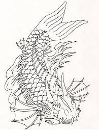 koi fish outline designs