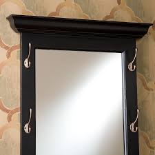 southern enterprises paxton black entryway hook mirror by oj