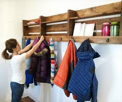 recycled pallet coat rack with hooks ideas recycled pallet ideas