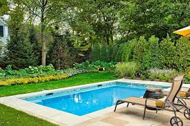 Outdoor Living  Great Backyard Small Swimming Pool Design And - Backyard swimming pool design