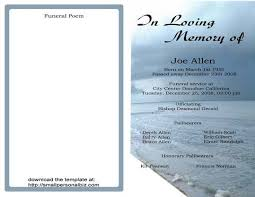 funeral phlet ideas free funeral program templates find sle funeral program for