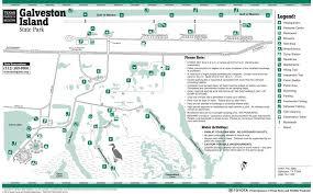 galveston island map galveston island state park maplets
