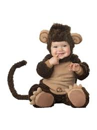 Halloween Costumes Infants 0 3 Months Amazon Incharacter Baby Lil U0027 Monkey Costume Clothing