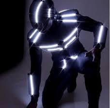 Led Halloween Costume Led Dance Suit Led Robot Costume Led Glowing Clothes Size