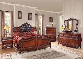 Traditional Cherry Bedroom Furniture - dorothea 4pc bedroom set