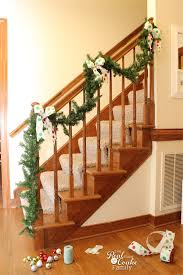 Banister Decorations Christmas Decorating Ideas To Make A Christmas Garland