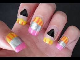 back to nail art diy at home super cute and easy for