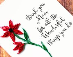 mothers day greeting card floral card for mom for you mom