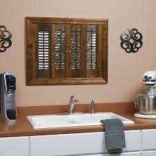 interior wood shutters home depot homebasics traditional real wood walnut interior shutter price