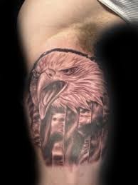 Black Flag Tattoos American Flag And Eagle Tattoo Ybor City Tampa Fl 1603 Tattoo