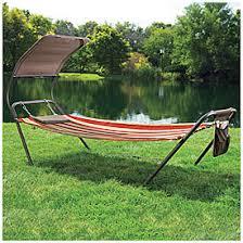 wilson u0026 fisher freestanding hammock with canopy at big lots