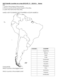 identifying countries on a map south america focus brazil by