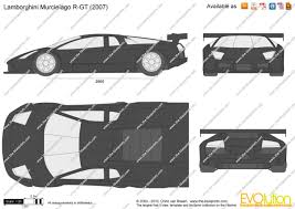 Lamborghini Gallardo Dimensions - the blueprints com vector drawing lamborghini murcielago r gt