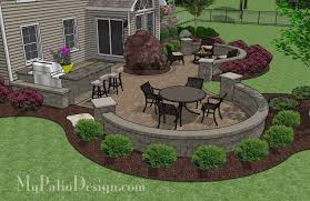Patio Design Ideas For Your Beautiful Garden Hupehome by Large Paver Patio Design With Grill Station Bar Plan No