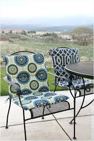Wrought Iron Patio Chair Cushions Back Patio Chair Cushions Best Products Melissal Gill
