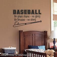 baseball bedroom decor sports baseball wall decal boys room decor childrens decor
