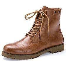 light brown combat boots amazon com pianfai combat boots for women casual lace up ankle