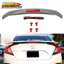 For 2016 2017 Honda Civic X 10th Jdm Rs Style Abs Trunk Spoiler With
