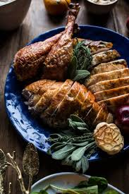 herbed turkey recipes thanksgiving herb and butter roasted turkey half baked harvest