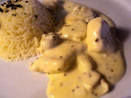 cuisiner du riz blanc blancs de poulet sauce au deux moutardes yaya cuisine