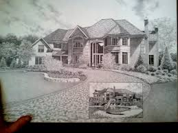 pencil house drawings drawing art collection