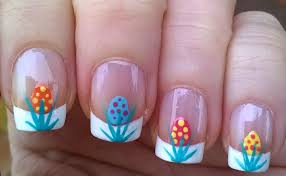 life world women french manicure easter nail art design